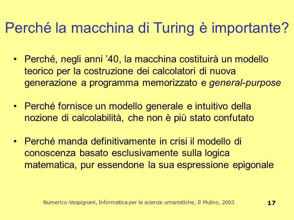 Perché la macchina di Turing è importante