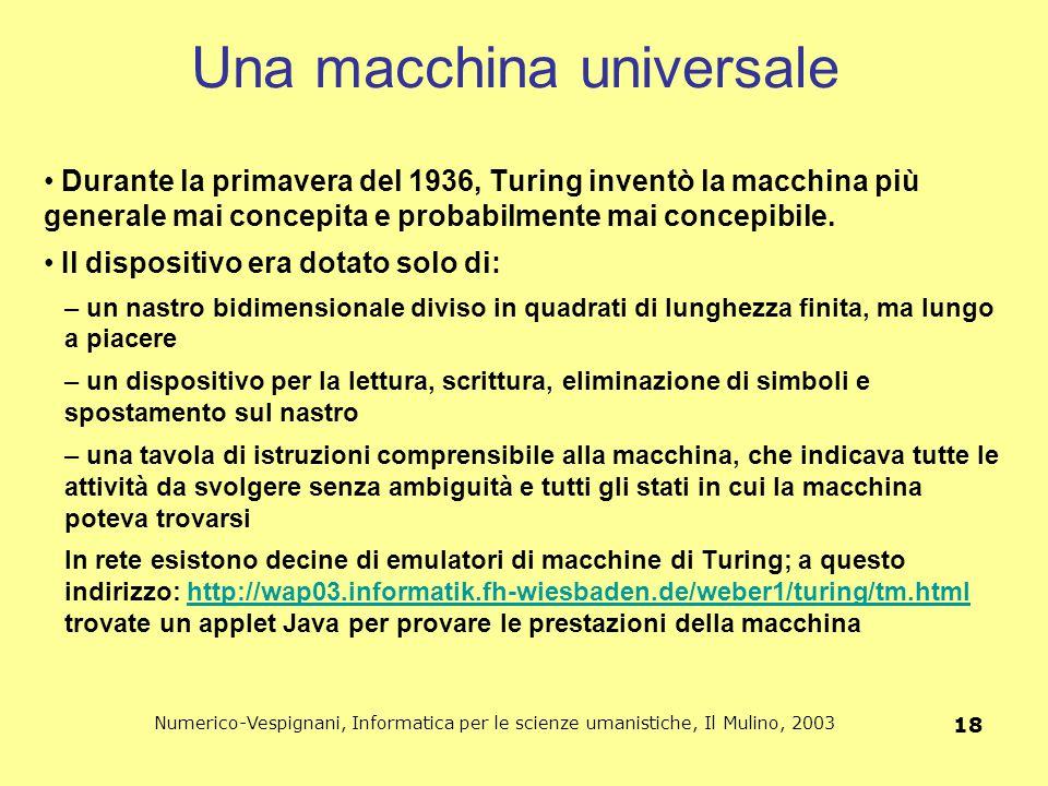 Una macchina universale