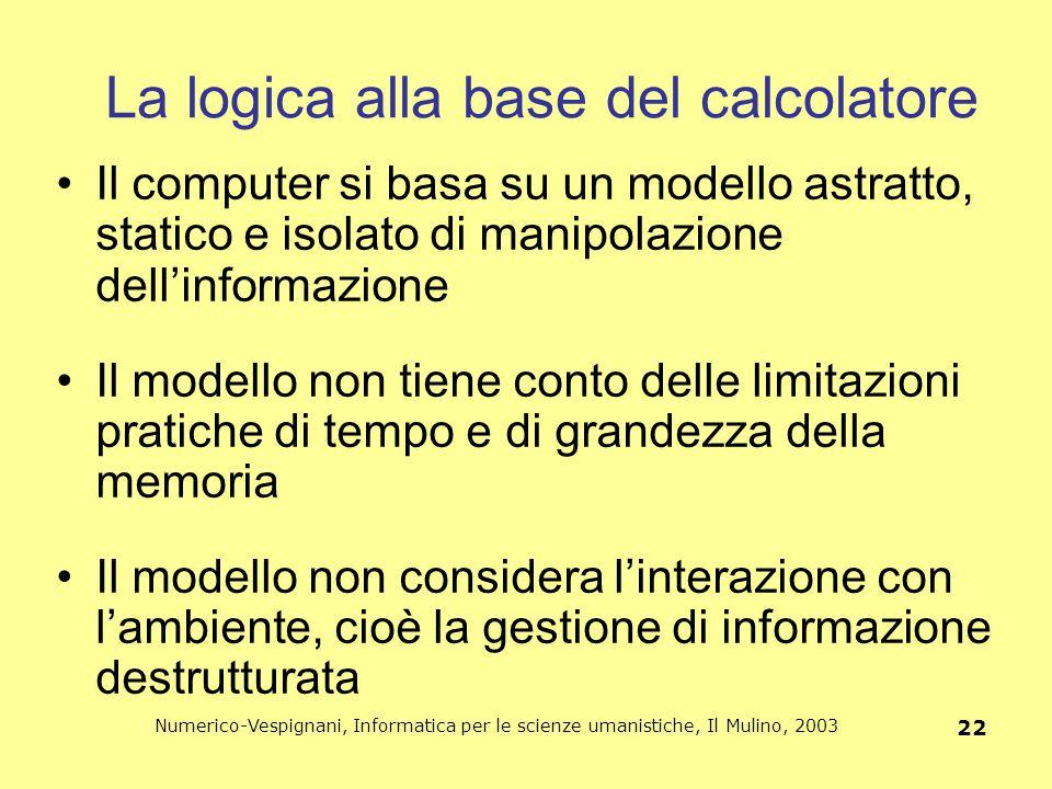 La logica alla base del calcolatore