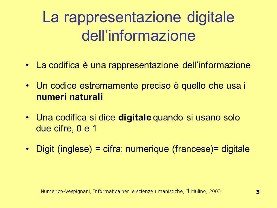 La rappresentazione digitale dell'informazione