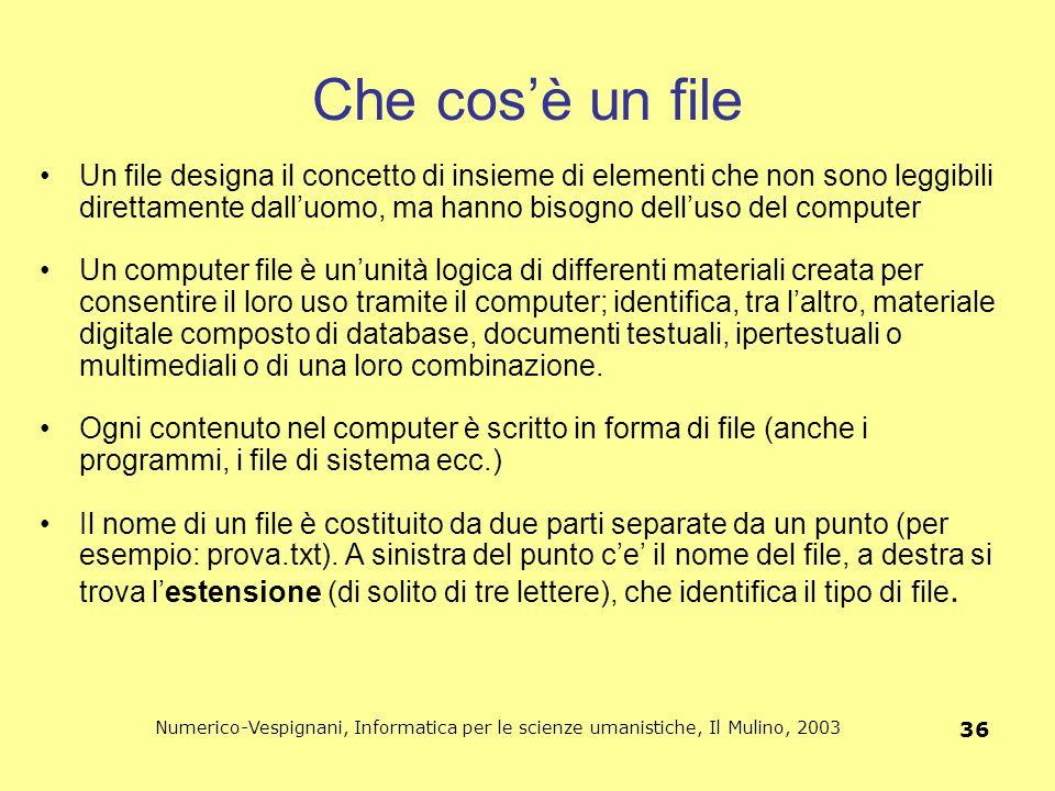 Che cos'è un file