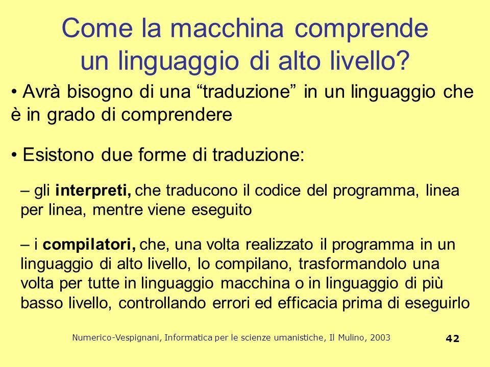 Come la macchina comprende un linguaggio di alto livello