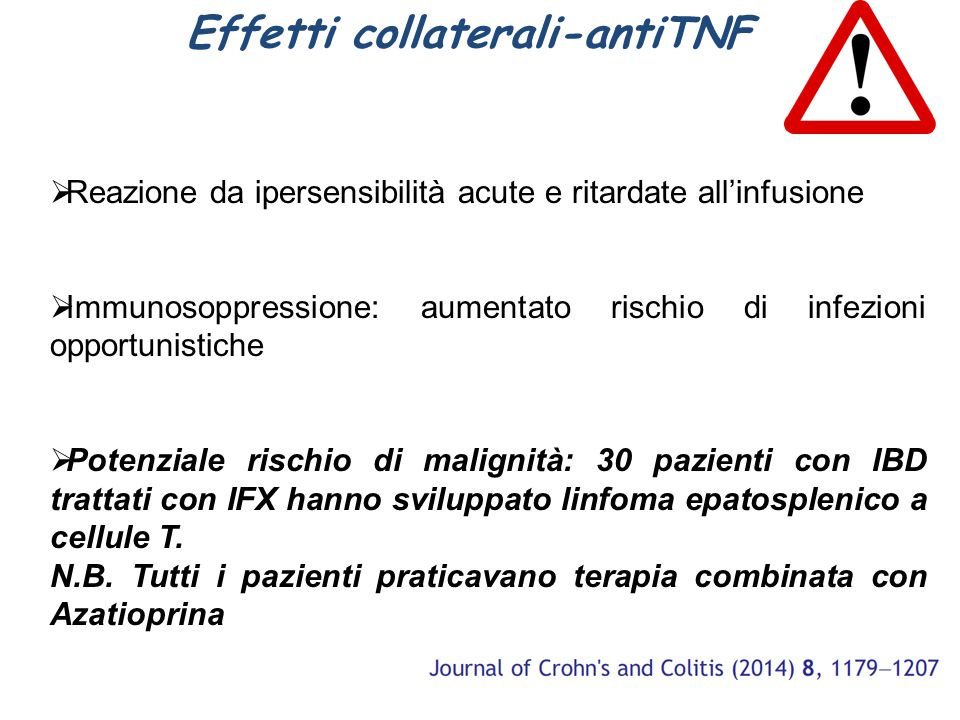 Effetti collaterali-antiTNF