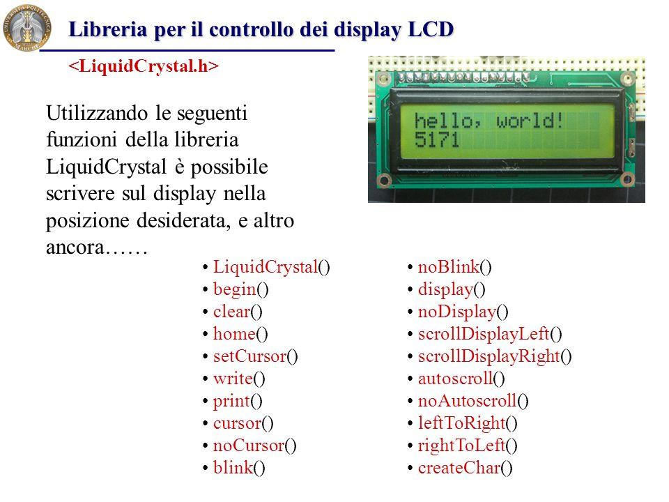 Libreria per il controllo dei display LCD