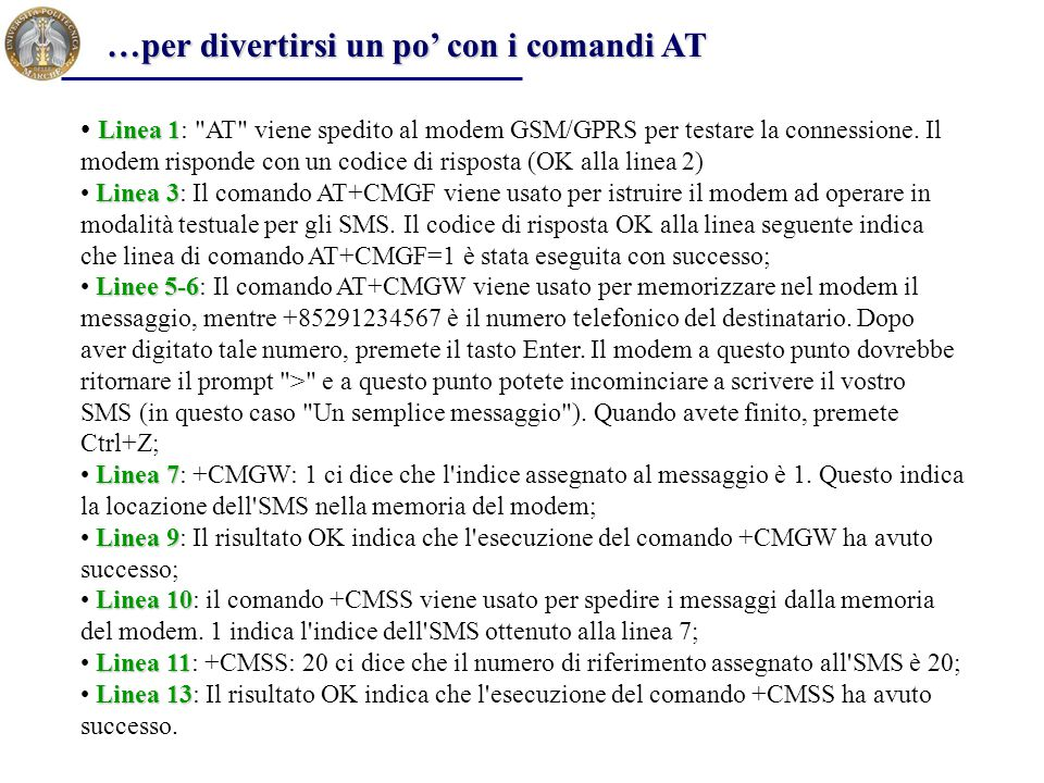 …per divertirsi un po' con i comandi AT