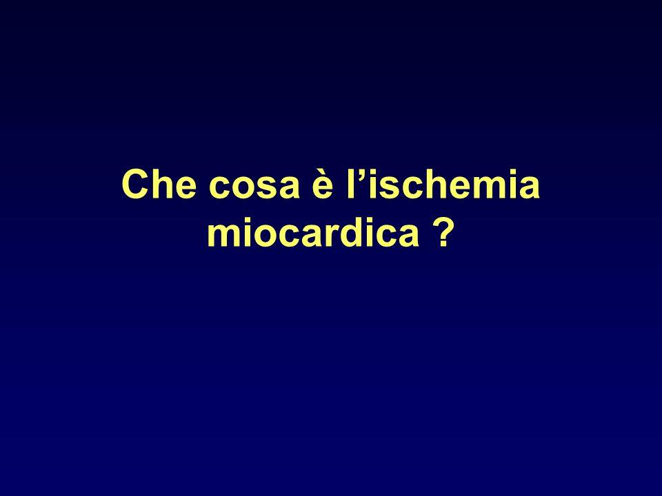 Che cosa è l'ischemia miocardica