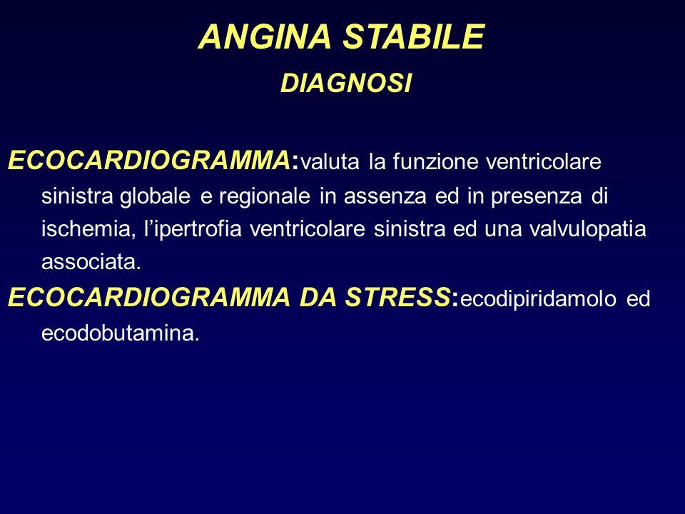 ANGINA STABILE DIAGNOSI