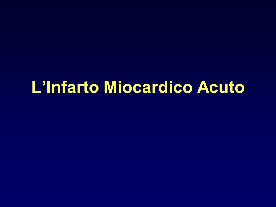 L'Infarto Miocardico Acuto