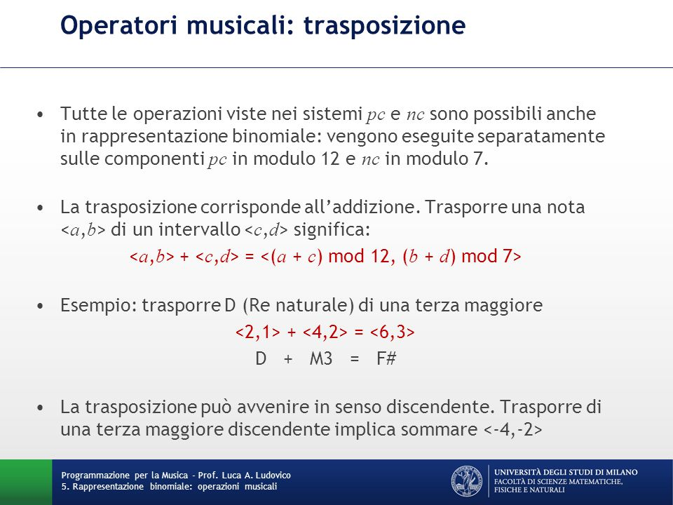 Operatori musicali: trasposizione