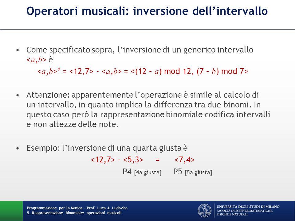 Operatori musicali: inversione dell'intervallo