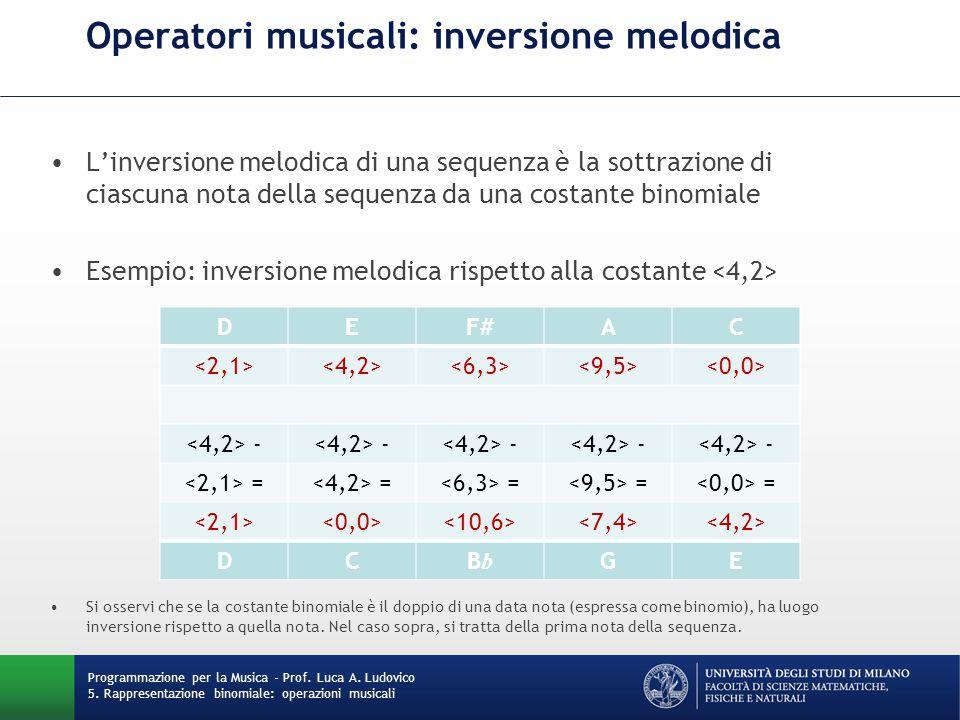 Operatori musicali: inversione melodica