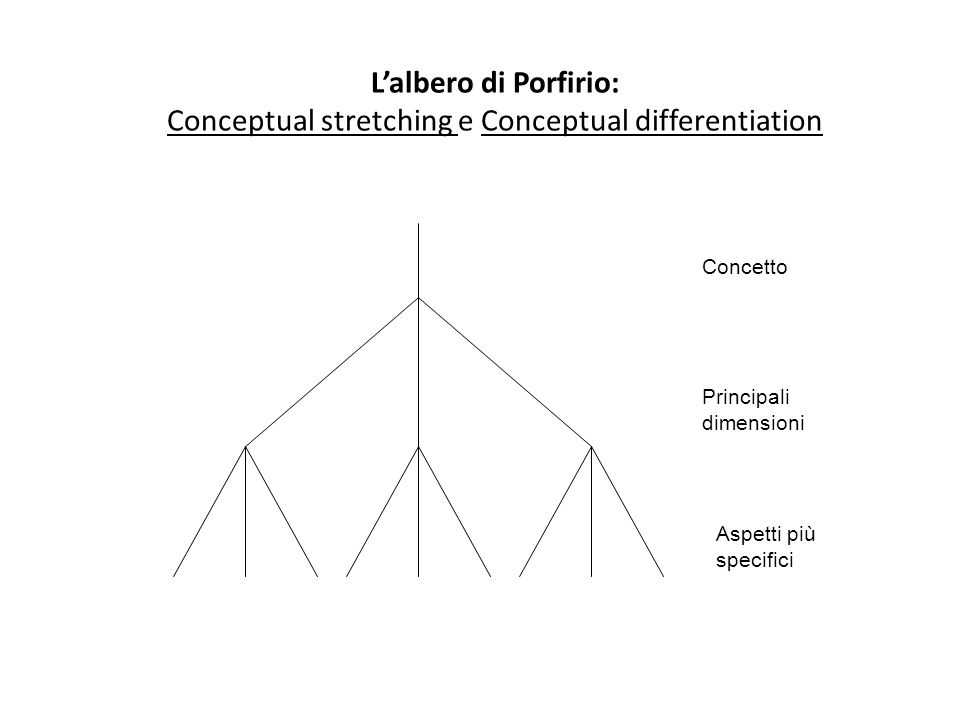 Conceptual stretching e Conceptual differentiation