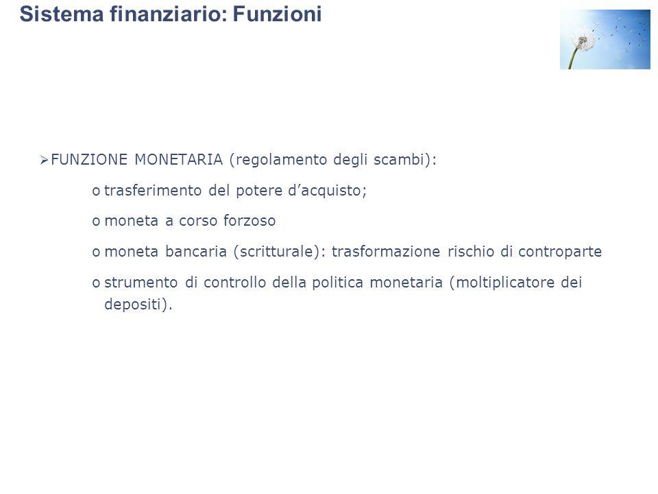 Sistema finanziario: Funzioni