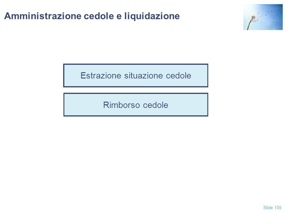 Amministrazione cedole e liquidazione