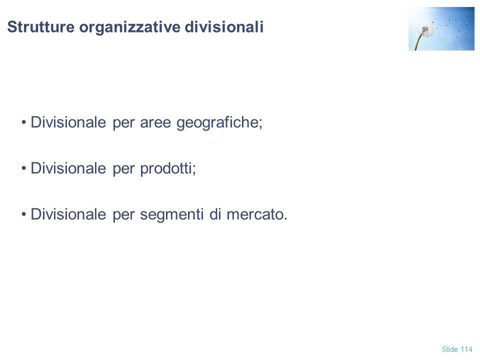 Strutture organizzative divisionali