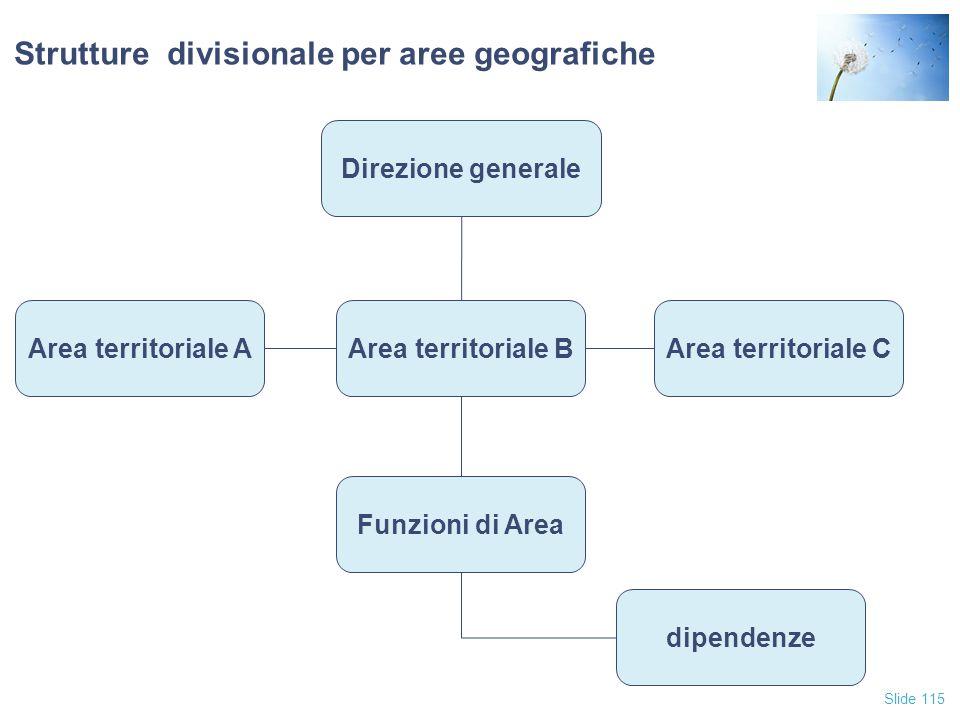 Strutture divisionale per aree geografiche