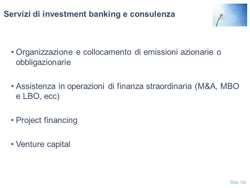 Servizi di investment banking e consulenza