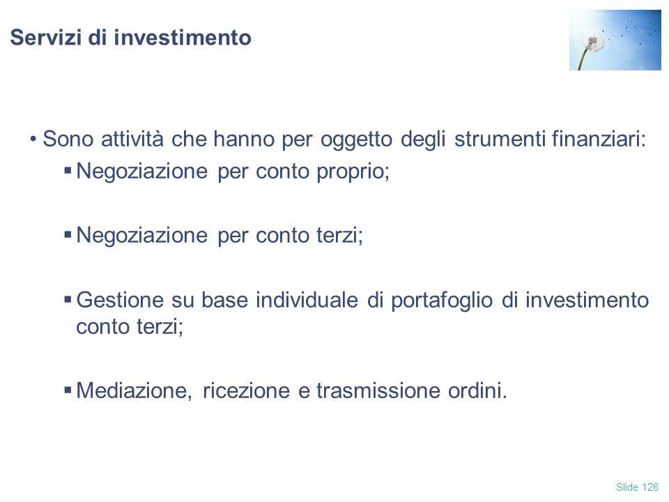 Servizi di investimento