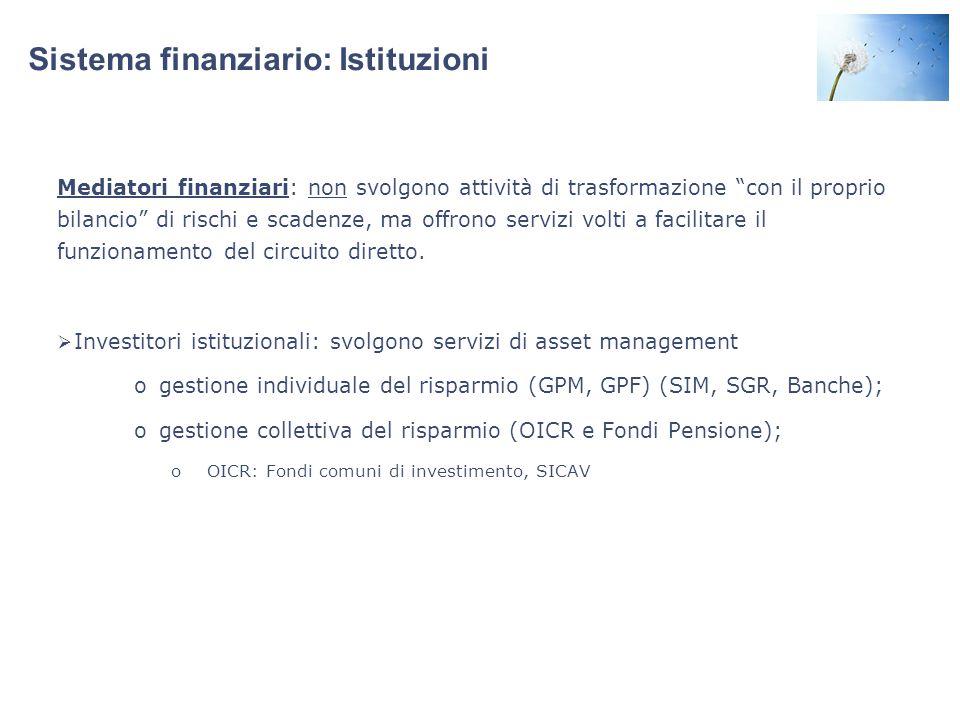 Sistema finanziario: Istituzioni
