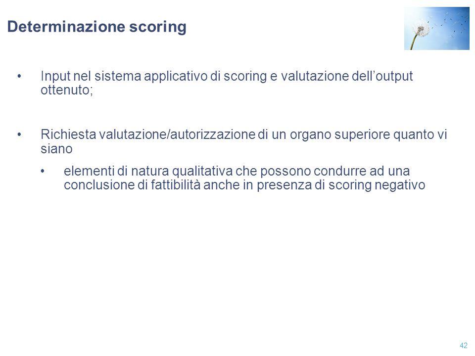 Determinazione scoring