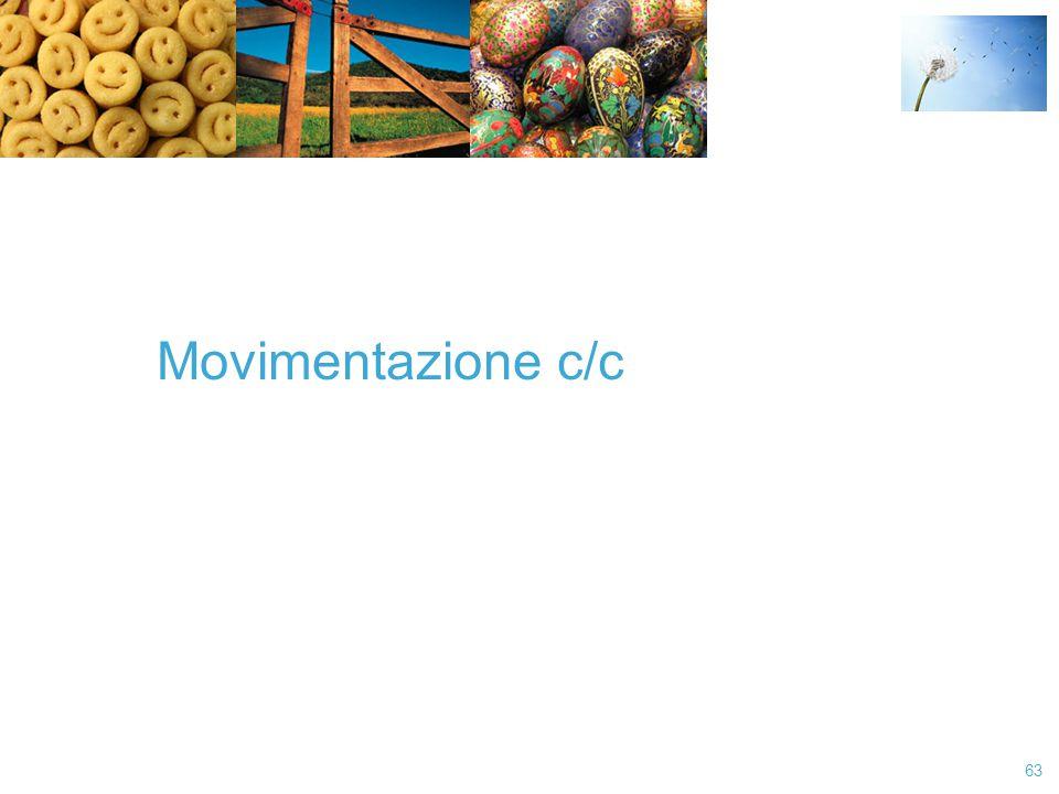 Movimentazione c/c