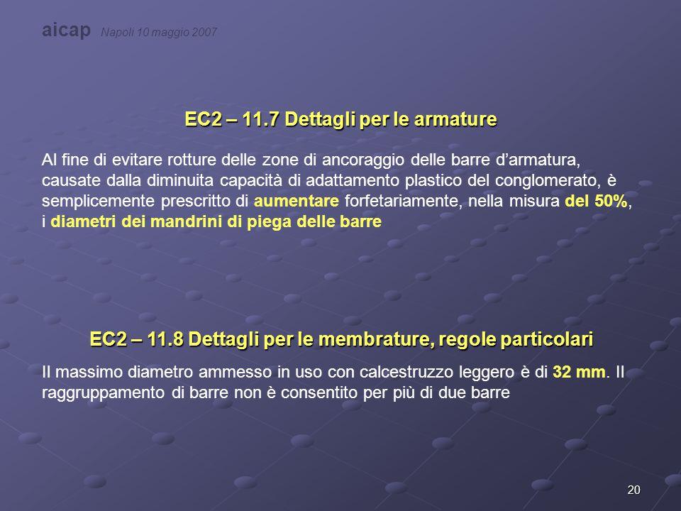 EC2 – 11.7 Dettagli per le armature