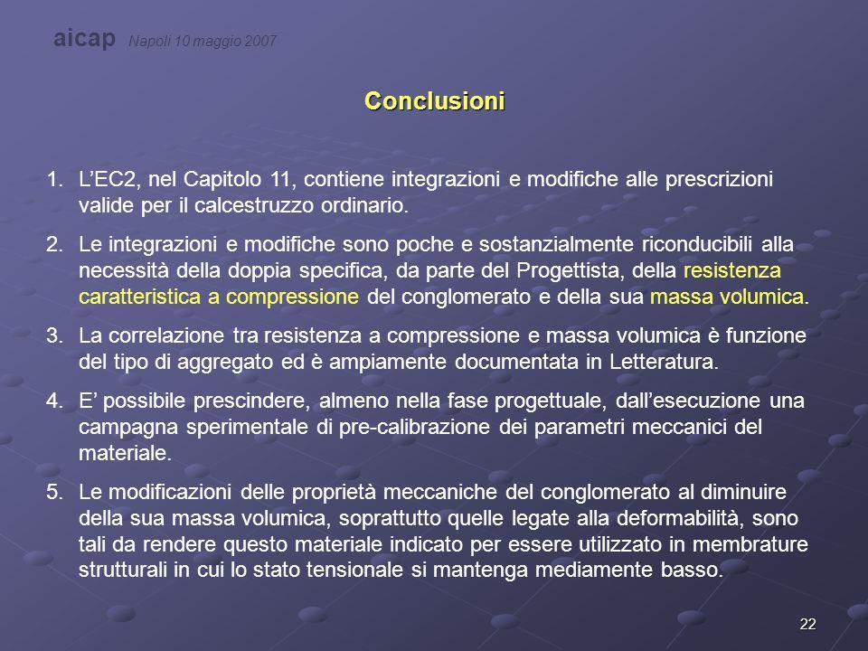 aicap Napoli 10 maggio 2007 Conclusioni