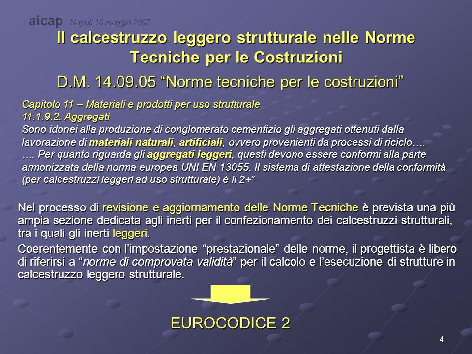 D.M. 14.09.05 Norme tecniche per le costruzioni