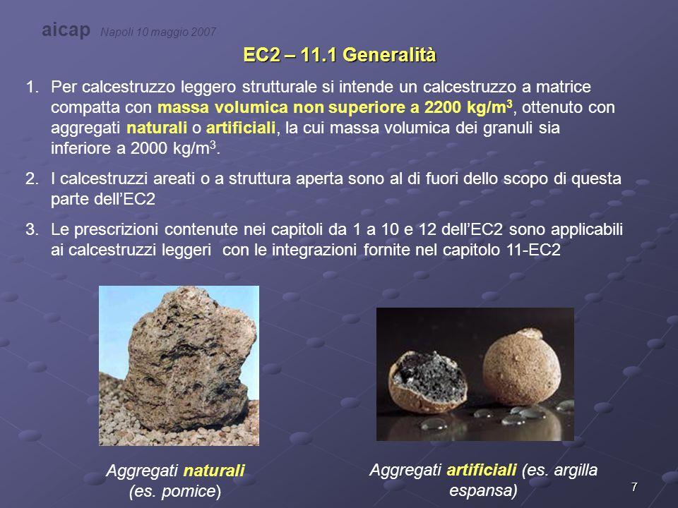 Aggregati artificiali (es. argilla espansa)