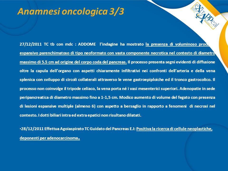 Anamnesi oncologica 3/3