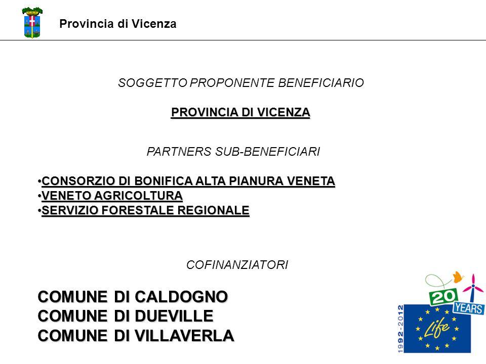 COMUNE DI CALDOGNO COMUNE DI DUEVILLE COMUNE DI VILLAVERLA