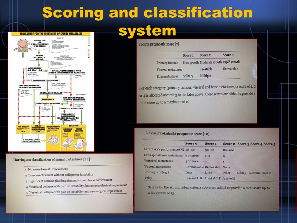 Scoring and classification system