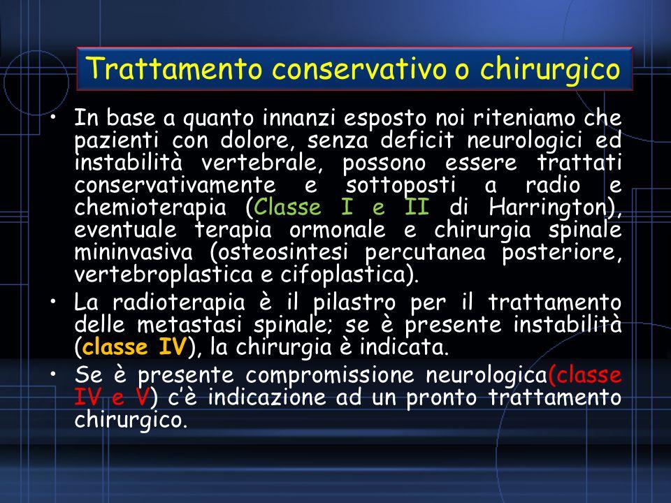 Trattamento conservativo o chirurgico