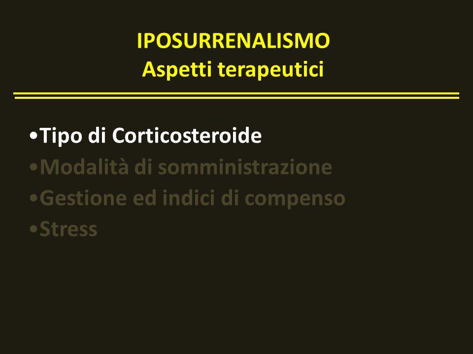 IPOSURRENALISMO Aspetti terapeutici