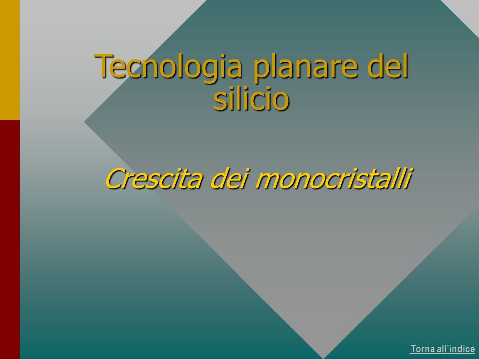 Tecnologia planare del silicio
