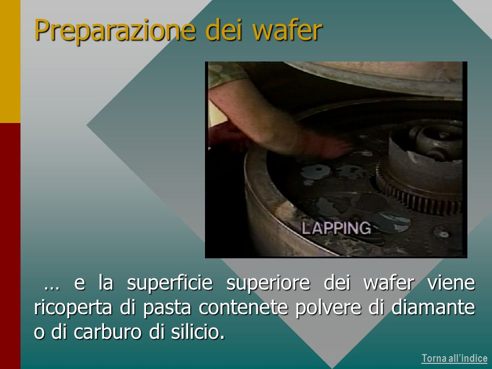 Produzione dei wafer 11 di 15