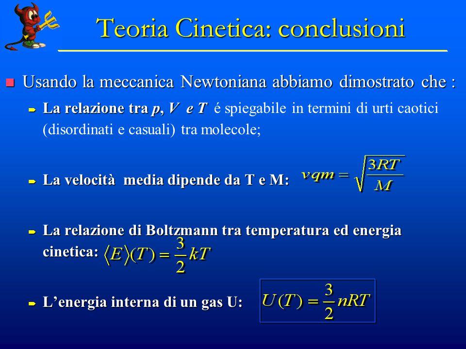 Teoria Cinetica: conclusioni