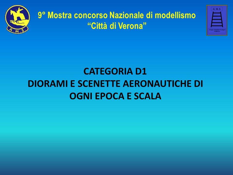CATEGORIA D1 DIORAMI E SCENETTE AERONAUTICHE DI OGNI EPOCA E SCALA