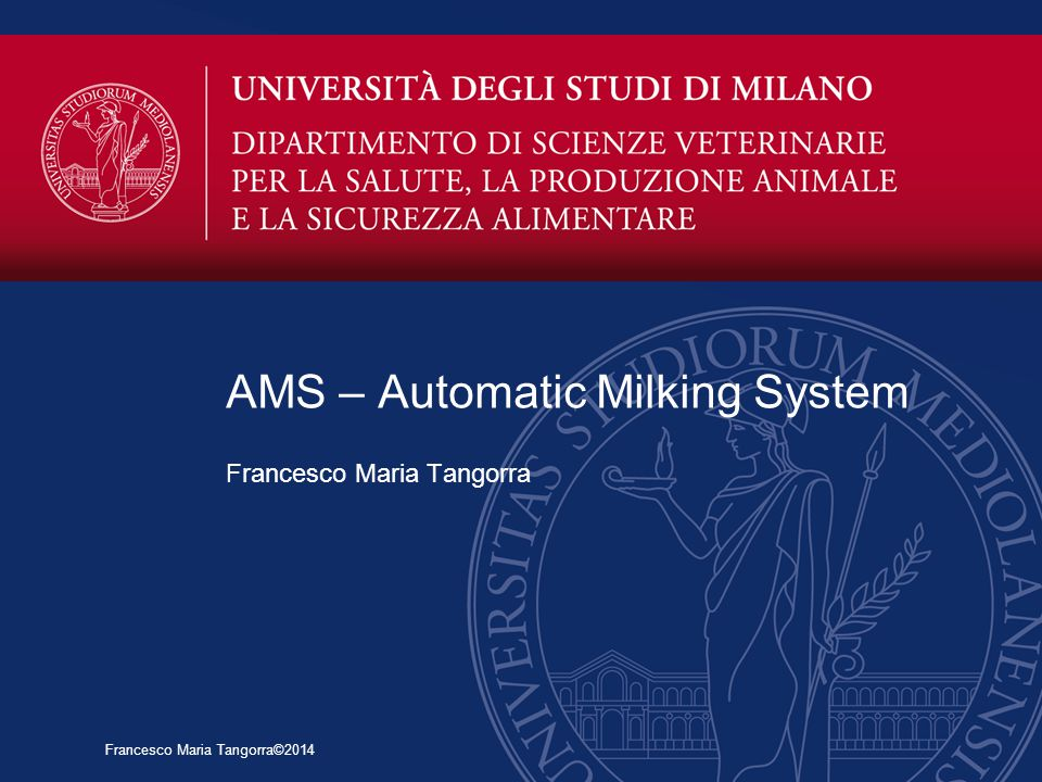 AMS – Automatic Milking System
