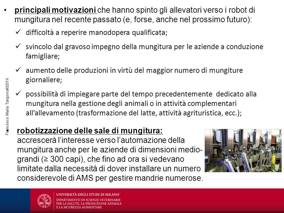 principali motivazioni che hanno spinto gli allevatori verso i robot di mungitura nel recente passato (e, forse, anche nel prossimo futuro):