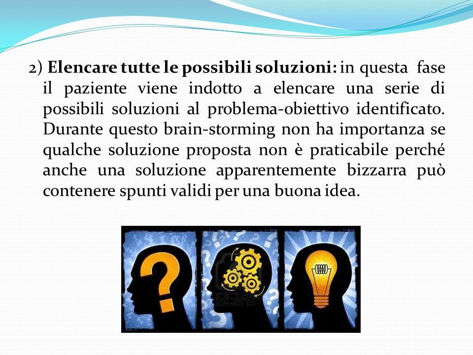 2) Elencare tutte le possibili soluzioni: in
