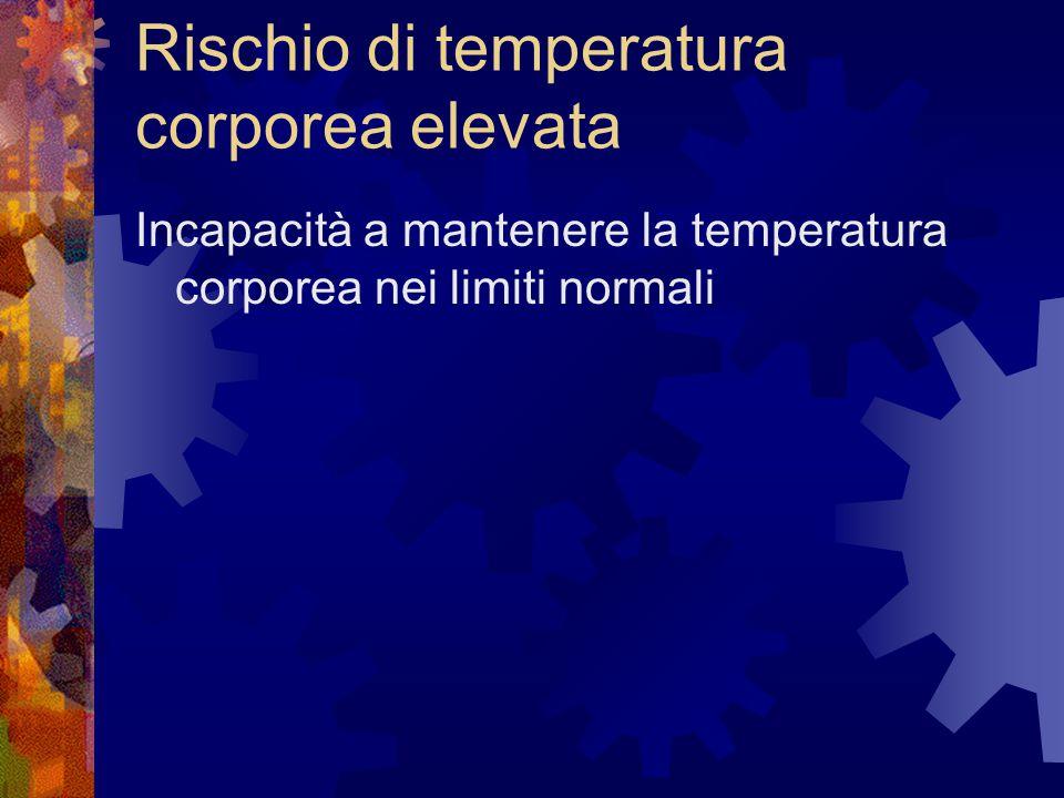 Rischio di temperatura corporea elevata
