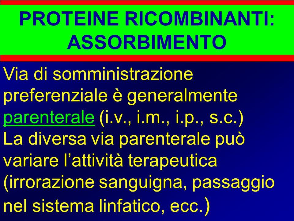 PROTEINE RICOMBINANTI: