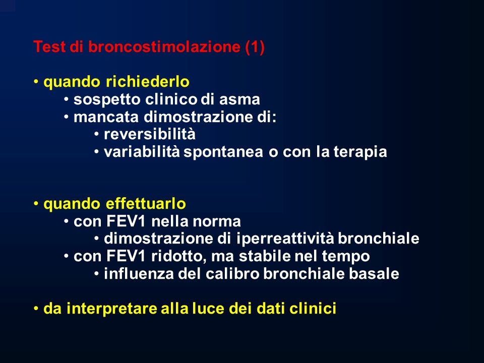 Test di broncostimolazione (1)