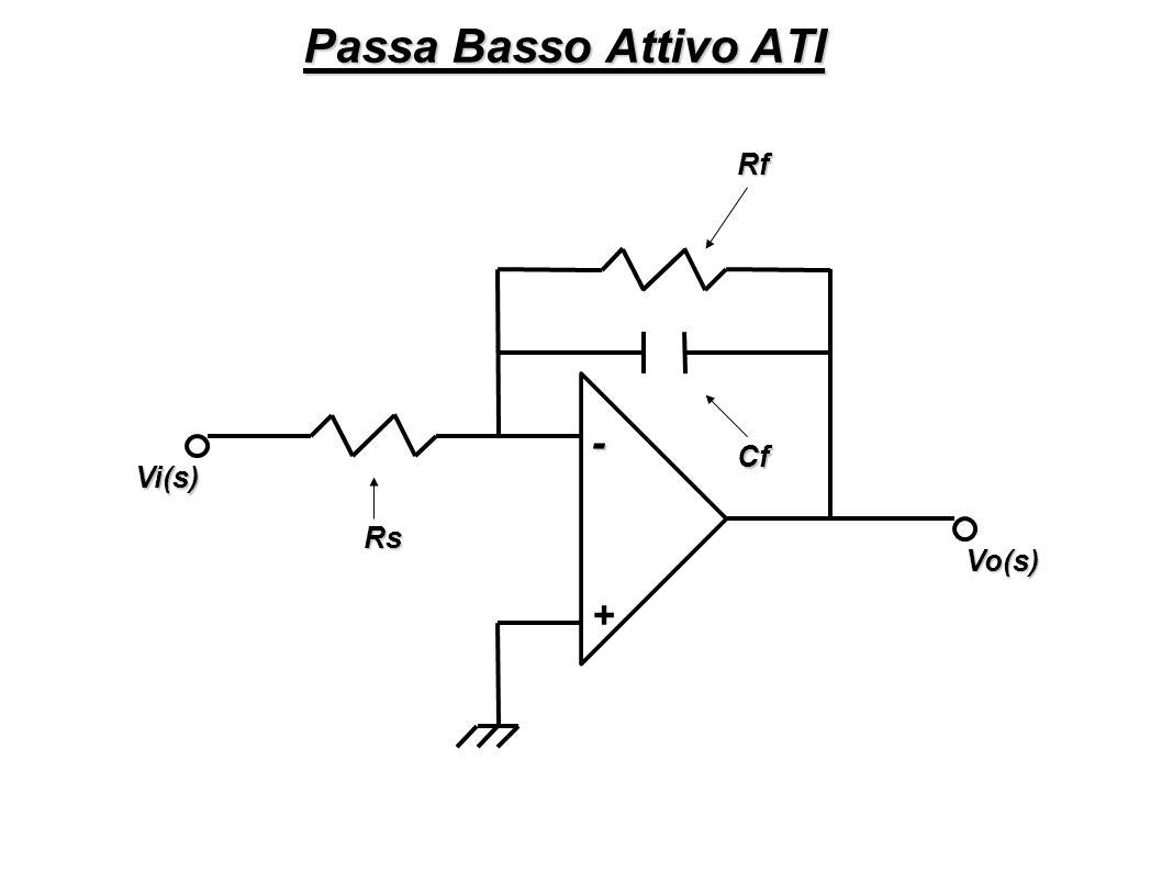 Passa Basso Attivo ATI Rf - Cf Vi(s) Rs Vo(s) +