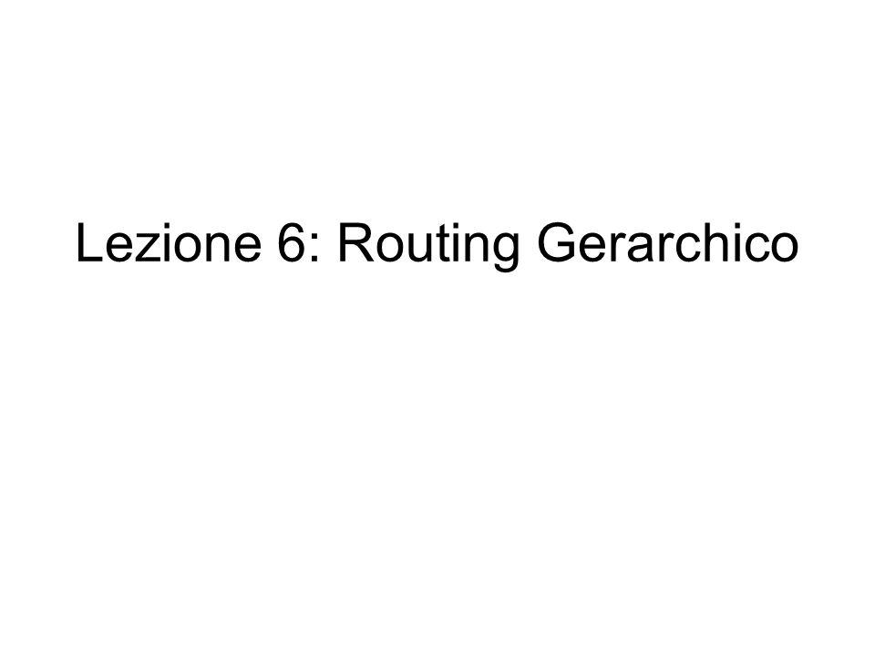Lezione 6: Routing Gerarchico