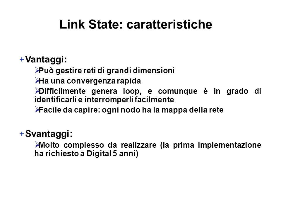 Link State: caratteristiche