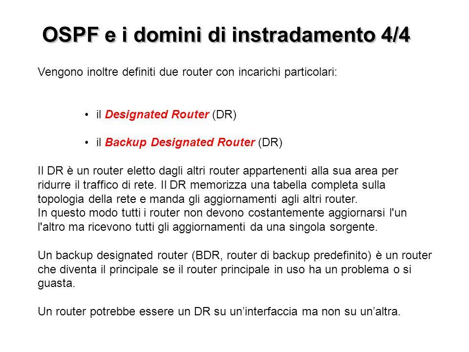 OSPF e i domini di instradamento 4/4