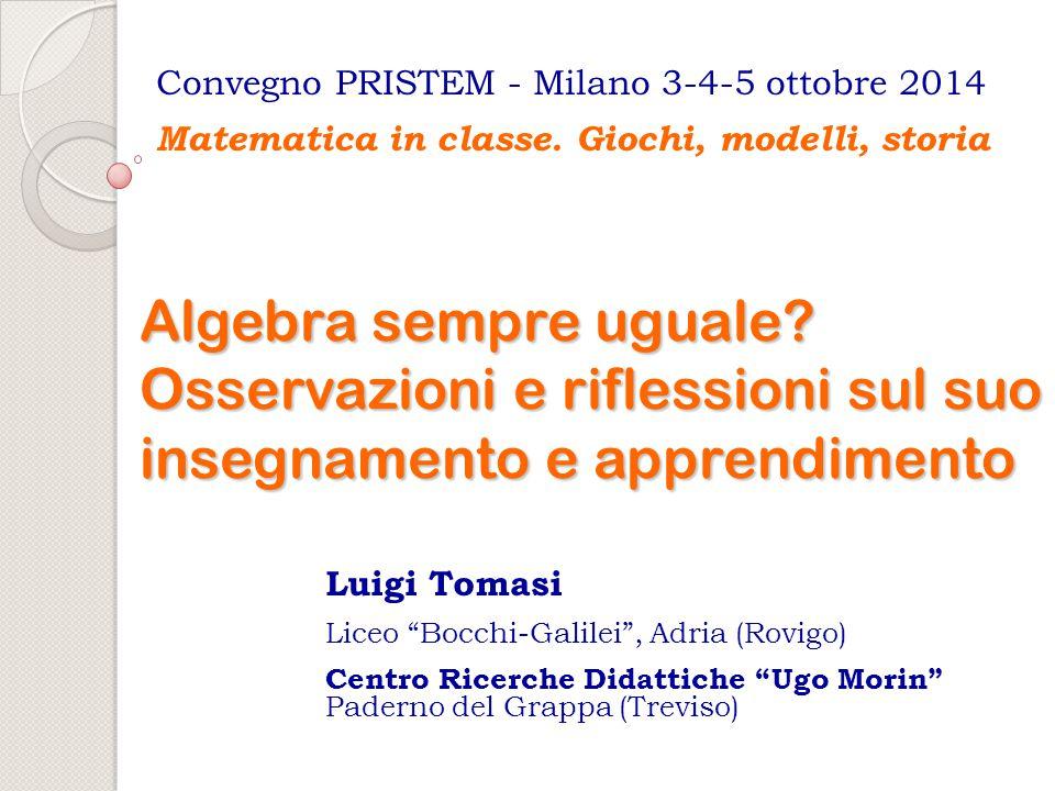 Convegno PRISTEM - Milano 3-4-5 ottobre 2014