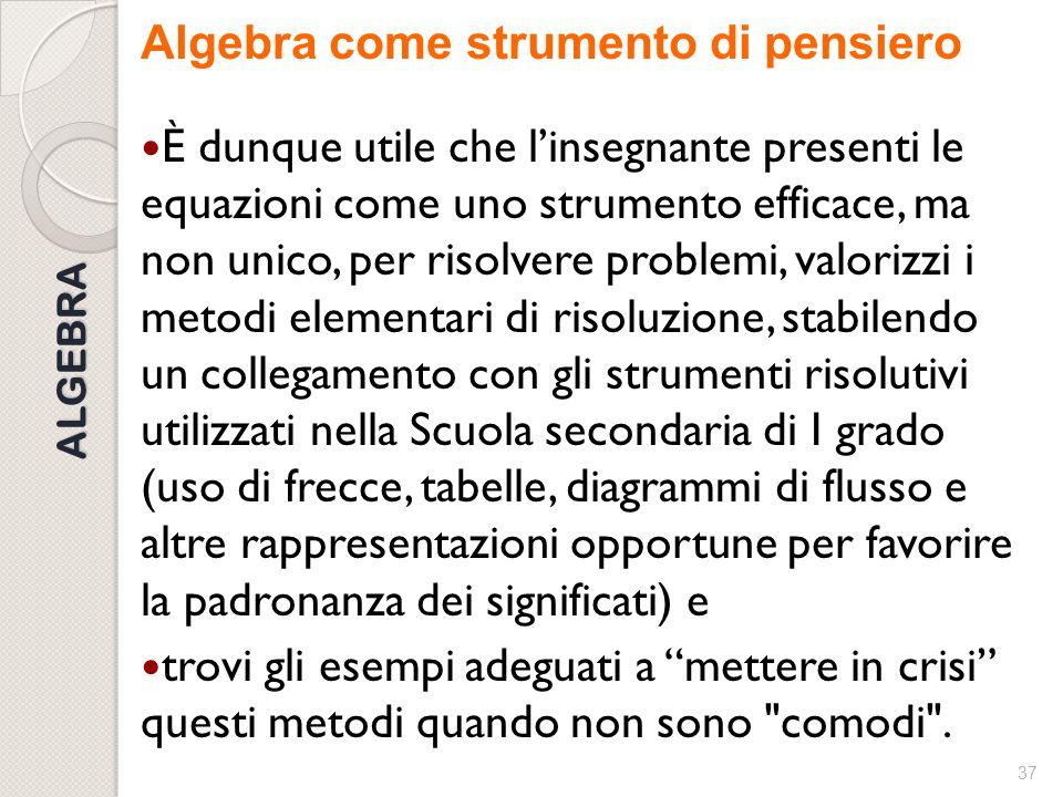 Algebra come strumento di pensiero